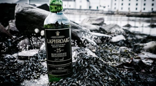 атмосферное фото виски  Laphroaig 25 yo Cask Strength Edition